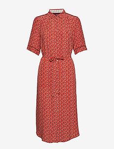 Dress short sleeve - skjortekjoler - print red