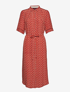 Dress short sleeve - shirt dresses - print red