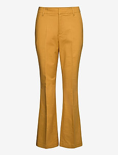 Trousers - uitlopende broeken - bright gold