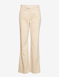 Trousers - uitlopende broeken - oatmeal