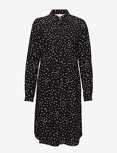 Dress long sleeve - skjortekjoler - print black