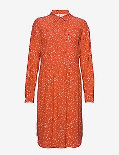 Dress long sleeve - robes chemises - print red