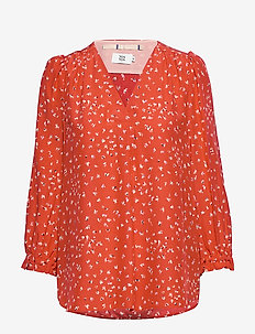 Blouse - long sleeved blouses - print red