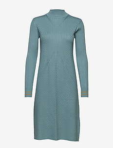 Dress long sleeve - knitted dresses - arctic