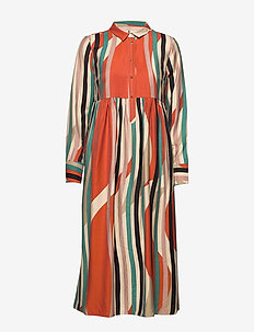Dress long sleeve - skjortekjoler - print red