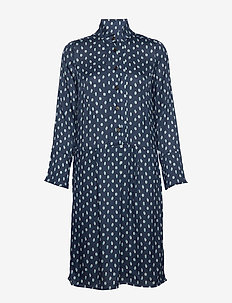 Dress long sleeve - shirt dresses - print blue