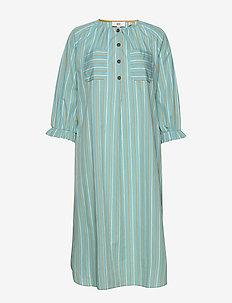 Dress long sleeve - skjortekjoler - art blue