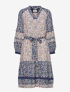 Dress long sleeve - midi kjoler - print purple