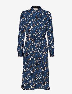 Dress long sleeve - skjortekjoler - print blue