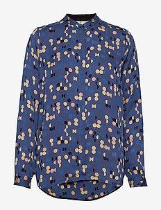 Blouse - blouses med lange mouwen - print blue
