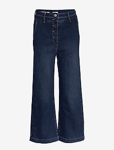 Trousers - pantalons larges - denim dark blue