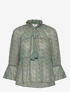 Blouse - blouses med lange mouwen - print green