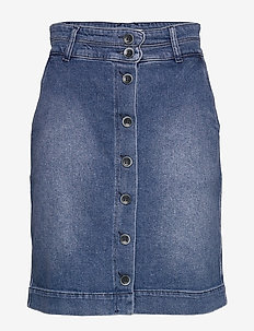 Skirt - denimnederdele - denim dark blue