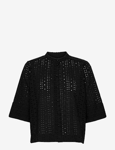 Blouse - short-sleeved blouses - black
