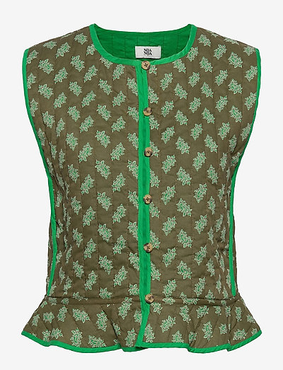Vest - knitted vests - print green