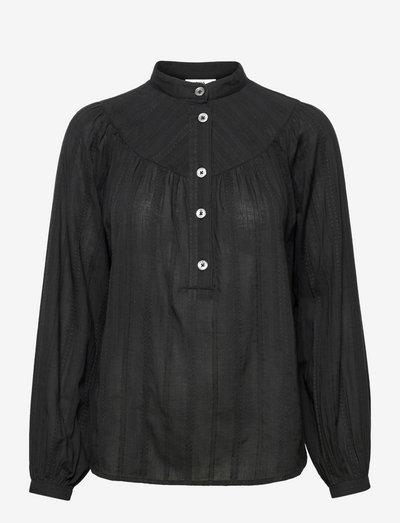 Blouse - long sleeved blouses - black