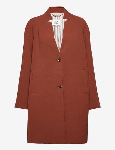 Light outerwear - light coats - cherry mahogany