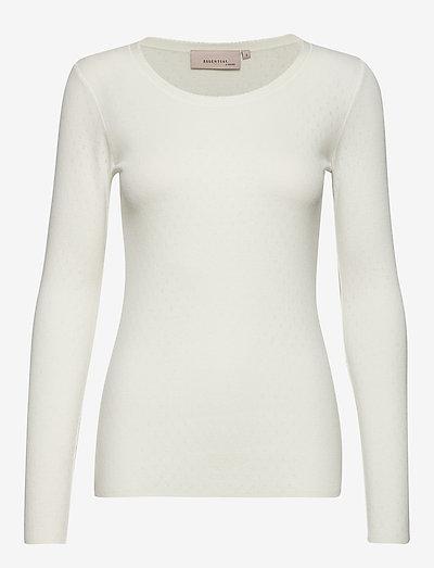 T-shirt - long-sleeved tops - cloud dancer