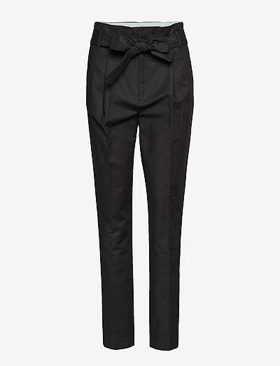 Trousers - straight leg trousers - black