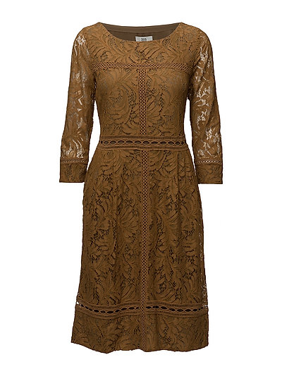 Dress long sleeve - DULL GOLD
