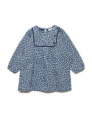 Dress long sleeve - BLUE SHADOW