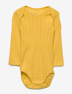 Baby Body - long-sleeved - spicy mustard