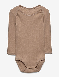 Baby Body - langærmede - indian tan