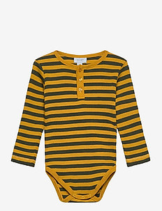 Baby Body - manches longues - art yellow