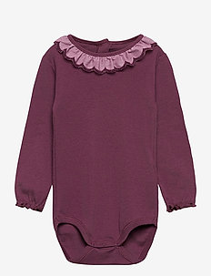Baby Body - manches longues - eggplant