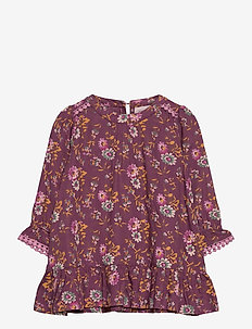 Dress long sleeve - kjoler - print bordeaux