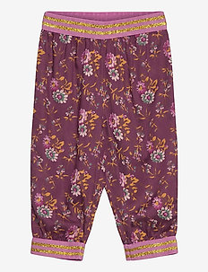 Trousers - bukser - print bordeaux