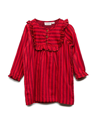 Dress long sleeve - RHUBARB