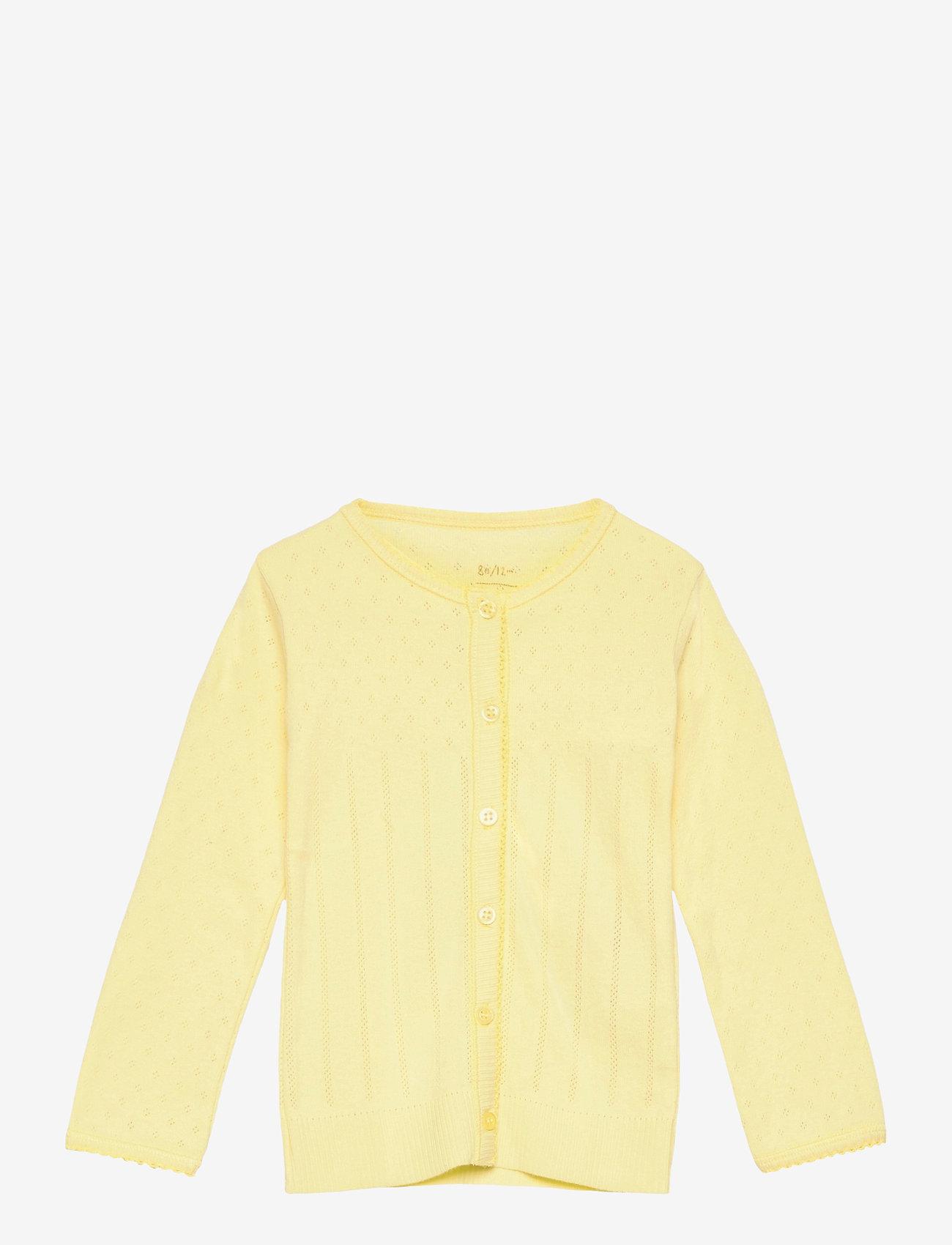 Noa Noa Miniature - Cardigan - gilets - lemon grass - 0