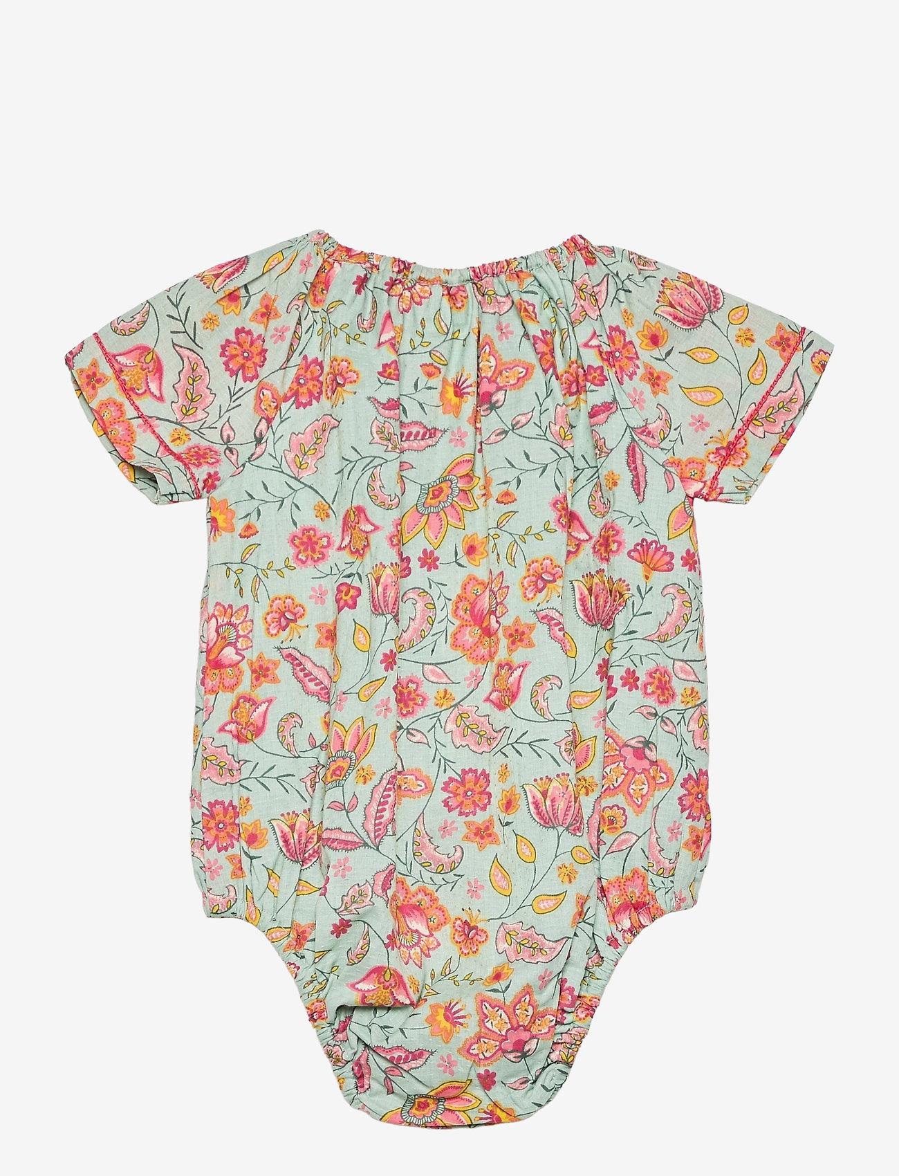 Noa Noa Miniature - Baby Body - kurzärmelige - aqua gray - 1