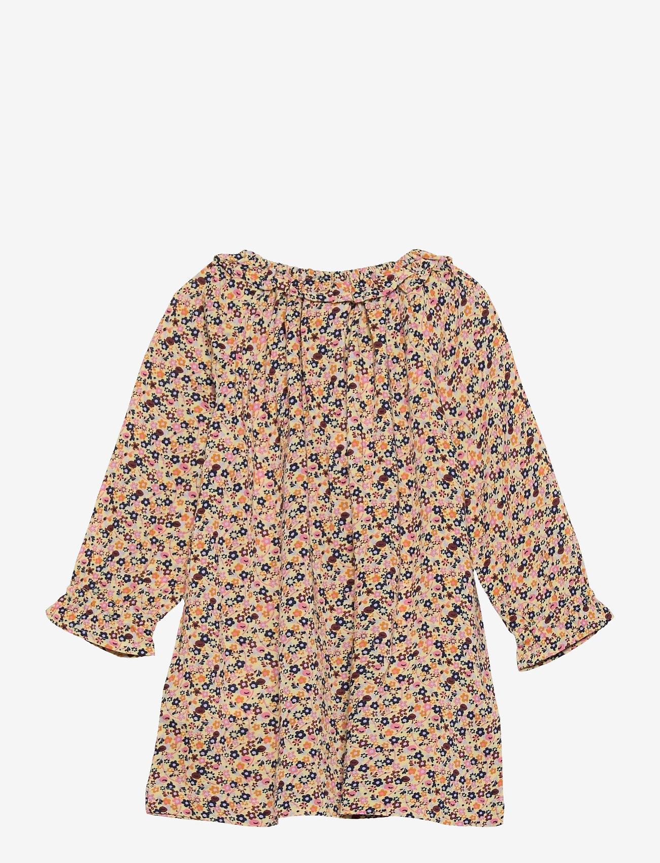 Noa Noa Miniature - Dress long sleeve - kleider - print yellow - 1
