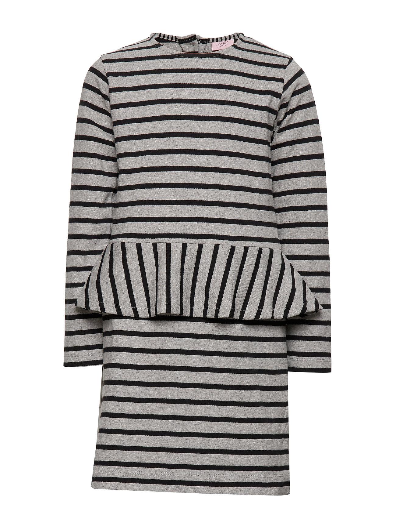 Noa Noa Miniature Dress long sleeve - GREY MELANGE