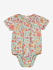 Noa Noa Miniature - Baby Body - kurzärmelige - aqua gray - 0