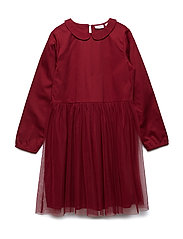 Dress long sleeve - RHUBARB
