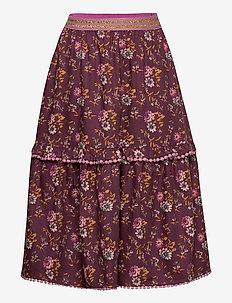 Skirt - kjolar - print bordeaux