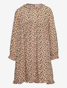 Dress long sleeve - kleider - print yellow