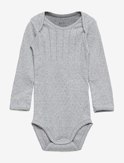 Baby Body - long-sleeved - grey melange