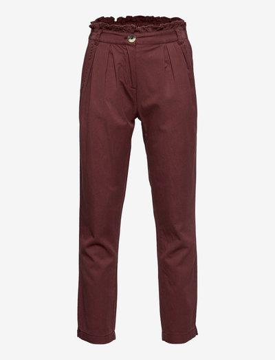 Trousers - bukser - cherry mahogany