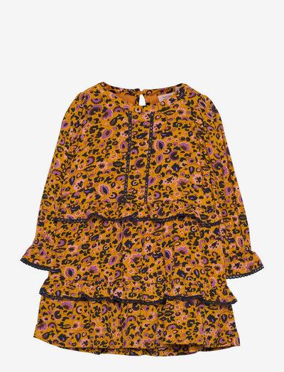 Dress long sleeve - dresses - print yellow
