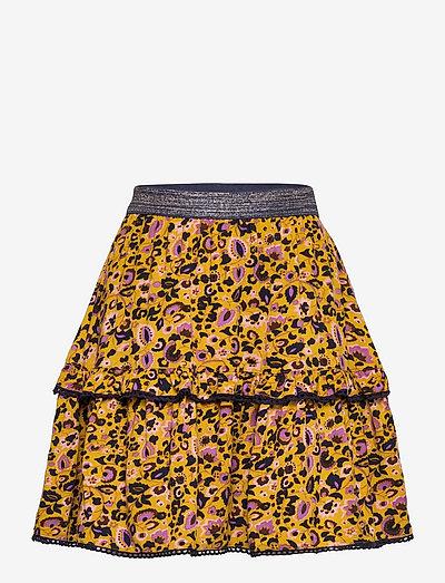 Skirt - skirts - print yellow