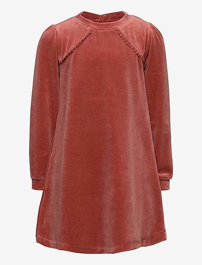 Dress long sleeve - kjoler - old rose