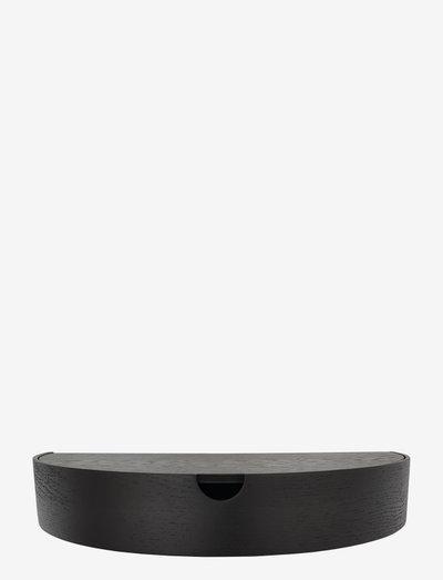 Hide Away shelf - hyllor - black oak/grey