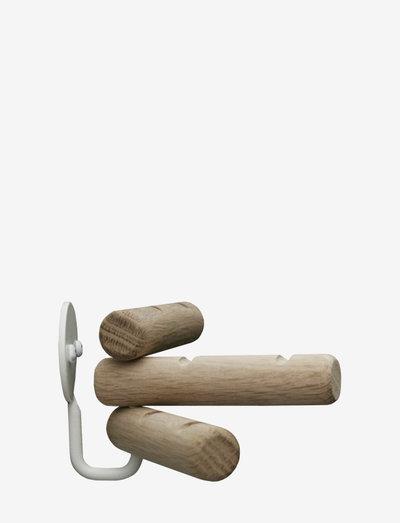 3Hooks - krokar & hängare - oak/white