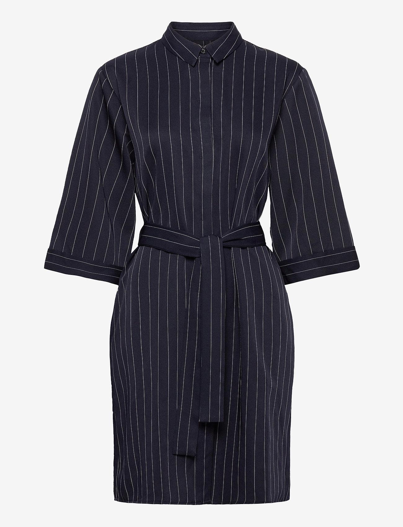 Norr - Ellis shirt dress - alledaagse jurken - blue stripe - 0