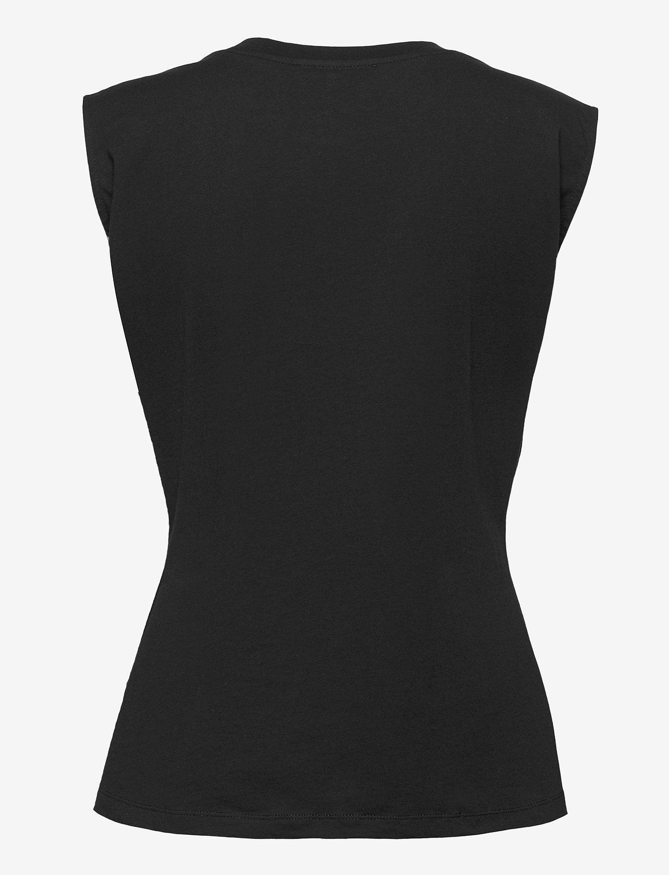 NORR - Augustin top - sleeveless blouses - black - 1