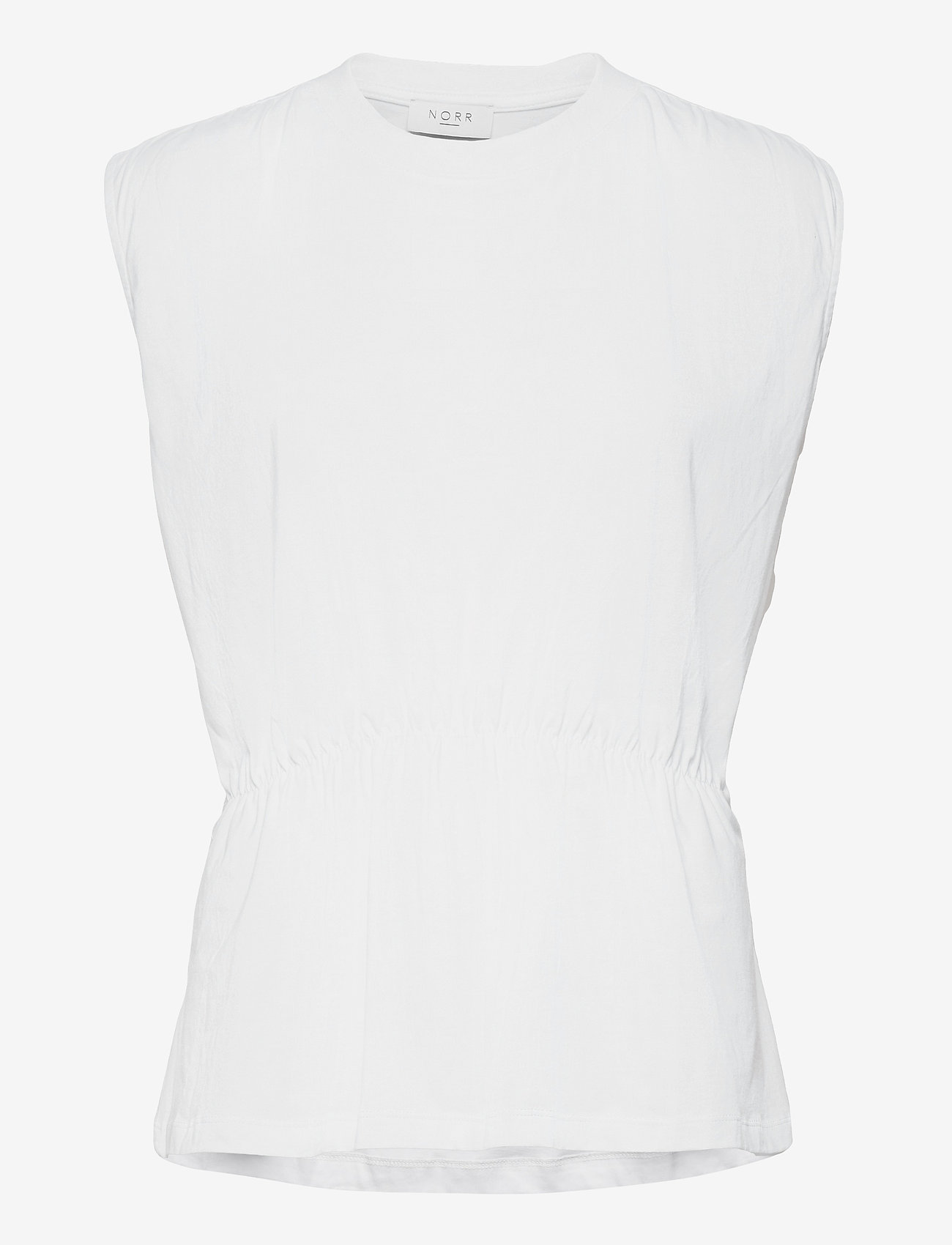 NORR - Augustin top - sleeveless blouses - white - 0